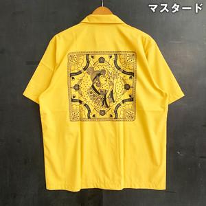 琉球娘と青い鳥【オリジナル開襟シャツ】