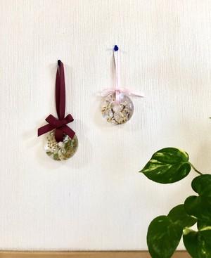 桜とミモザのレジンアートフラワー(壁掛けタイプ)