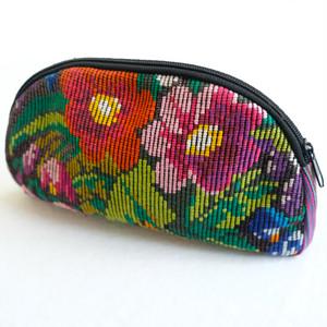 クロスステッチの刺繍ポーチ /229b/ MEXICO メキシコ