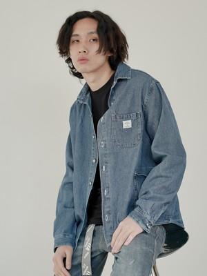 【即日出荷】オーバーポケットデニムシャツ アウター トップス ジーンズ シンプル ユニセックス メンズ