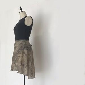 "◇""Tatiana"" Ballet Wrap Skirt -  Python (Beige) [Sheer]( パイソン(ベージュ)[シアー]))"