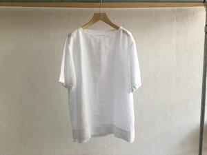 "Men's AUGUSTE-PRESENTATION Pajama Look""半袖プルオーバーWhite"""