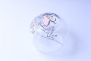 320-r 伝統文化品美濃焼多治見四角タイル指輪・リング(フリーサイズ) ※証明書付 347
