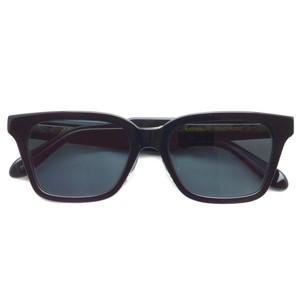 A.D.S.R. / NAVARRO 01 ナヴァロ / SHINY BLACK & CLEAR BLACK - Black ブラック&クリアブラック - ブラックレンズ スクエア ウェリントン サングラス