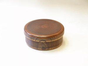 山中塗 木製 くりぬき 茶びつ・飯器兼用 ケヤキ 千筋 すりうるし塗 8寸