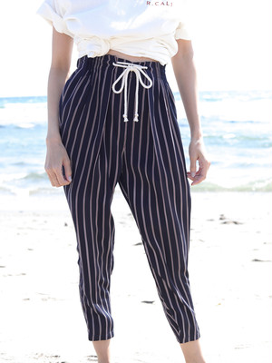 Stripe Pants Navy