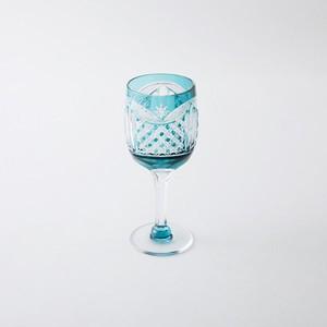 数量限定2個 送料無料 無料包装 結婚祝 記念日 江戸切子の店 クリスタルワイングラス(エメラルドグリーン)