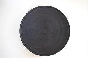 北山栄太|プレート8寸(ログウッド) 黒