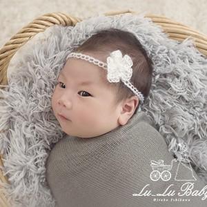 新生児フォト用ヘアアクセ(白)