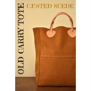 "【21年再販予定】""OLD  CARRY TOTE "" Suede×Natural"