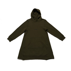SEASONING HOODIE ONE PIECE - KHAKI   -WOMEN'S-