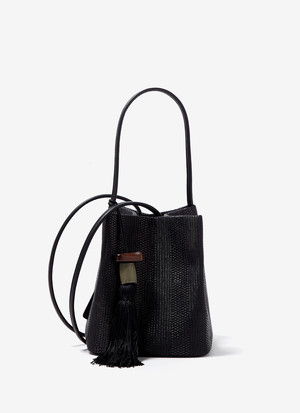 LADYBAG WITH RAFFIA FINISH