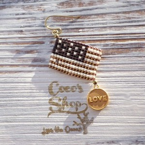 Flag One Yar  Pierce ~Aamericanflag&Love~ -Brown Gold-