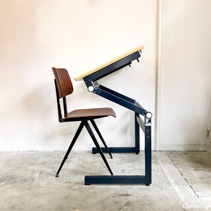 "Metal Frame Drawing Small Desk ""Thurop S.A. Swisse"" スイス"