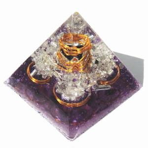 プレミアム ピラミッド クリスタルパープル(ゴールドコイル)