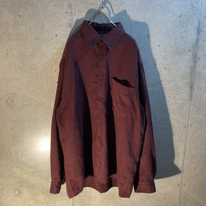 design fake suede shirt
