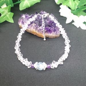 正直さ・誠実さを表現 アクアマリン・ハーキマーダイヤモンドブレスレット