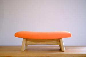 ゴイチ スエード オレンジ 座椅子