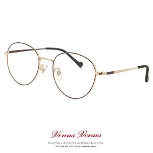 メガネ レディース ラウンド型 2383-6 レディース メンズ ユニセックス モデル 眼鏡 丸メガネ 丸眼鏡 コンビネーションフレーム
