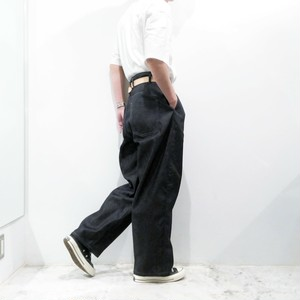 FIRMUM 【フィルマム】 SUPIMA UNEVEN YARN / SELVEDGE DENIM WIDE STRAIGHT PANTS