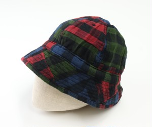 【Universal Works.】Naval Hat In Brushed Patchwork Multi