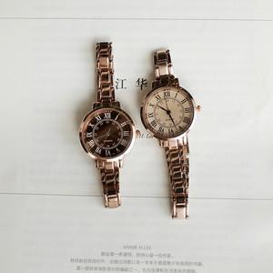 【小物】流行クォーツ時計オーバルファッション配色縁取り金属ベルト27337061