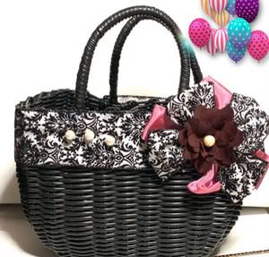 花のかごバッグ