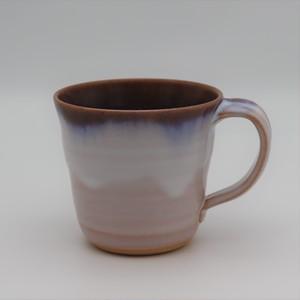 硝子釉広口マグカップ ブルー