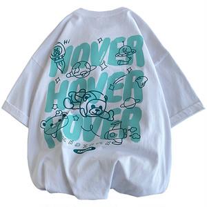【トップス】韓国系半袖プルオーバーアルファベットTシャツ47002772