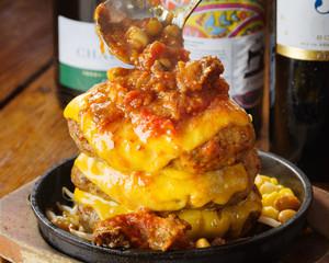 旨味たっぷりのチリビーンズ&チーズ『ハンバーグ』 3個(600 g)