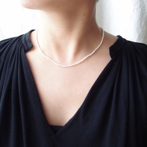 パールネックレス … Seed pearl【k14gf】