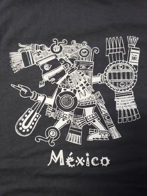 44  メキシコ製Tシャツ Lサイズ  アステカ柄