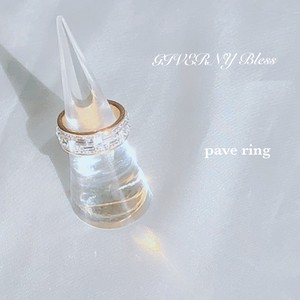 pave ring (ピンク)