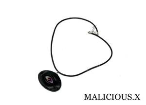 eye circle necklace / rainbow