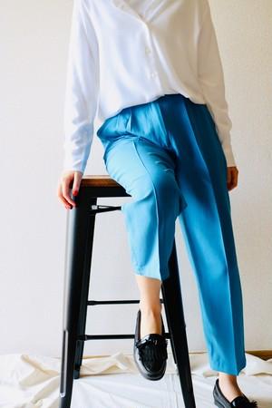 Vintage blue silk slacks