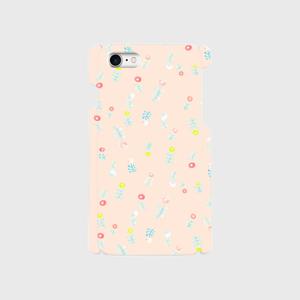 春に咲く:しゃけ色(プラスチックiPhoneケース)