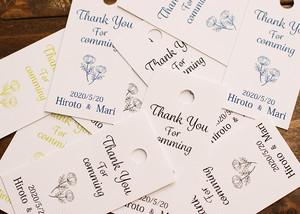 サンキュータグ ギフトタグ ホワイト紙 ブライダルやハンドメイド雑貨に 20枚セット【tag-003】