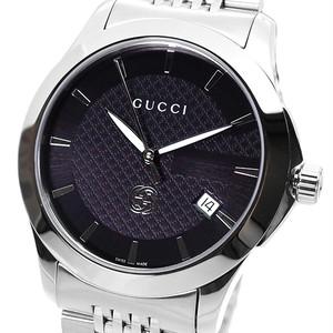 グッチ GUCCI 腕時計 メンズ YA1264106 クォーツ ブラック シルバー
