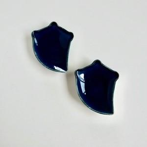 [NO.019] 伊万里 瑠璃釉 小皿  1枚 / Imari Ruri Blue Small Plate  / Edo Era