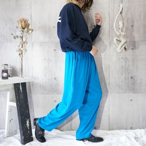 turquoise blue wide easy pants