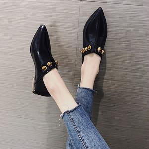 【pumps】2018 pointed toe autumn new Korean fashion low heel pumps