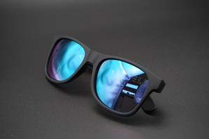 DANG SHADES × BURITSU LOCO Black Soft / Marine Blue Mirror Polarized(偏光レンズ)