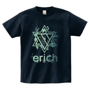 ERICH / HEXAGRAM LOGO T-SHIRT NAVY
