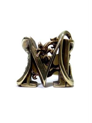 alphabet ring#M (Brass ・ 真鍮) -アルファベットモチーフ リングM-