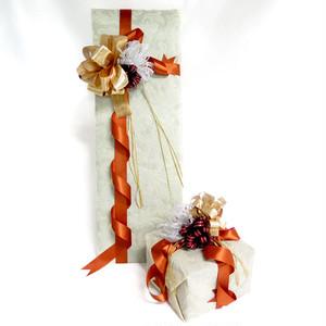プレミアムラッピング PREMIUM WRAPPING リボン 3D包装紙 アイボリー