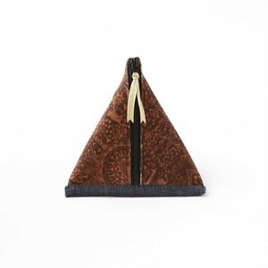 三角ポーチ【楽書き柄】内側和モダン柄