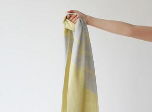% PERCENT スカーフ春夏(グレー&イエロー)抗菌・防臭・吸水・通気性・日焼け予防