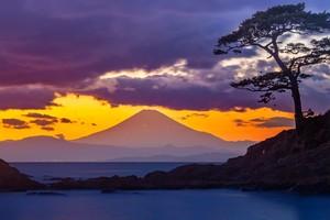 立石海岸より富士の夕景色