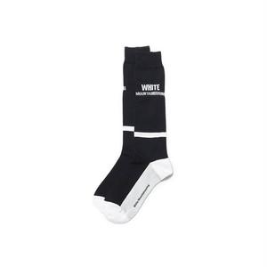WM BOX LOGO FOOTBALL SOCKS-BLACK