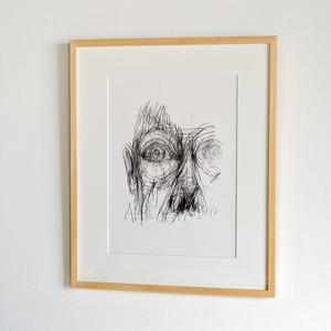 Alberto Giacometti / Malmo Konsthall Exhibition Poster 1994 額装済